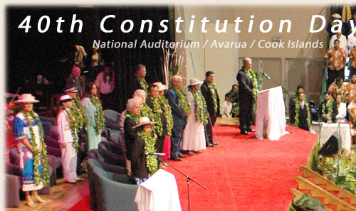 Ceremony at National Auditorium - Cook Islands 40th Constitution Day - 4th August 2005