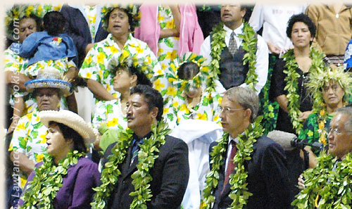 VIP guest during flagraising ceremony - Cook Islands 40th Constitution Day - 4th August 2005