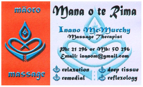 Businesscard Inano Mc Murchy / polynesian massage