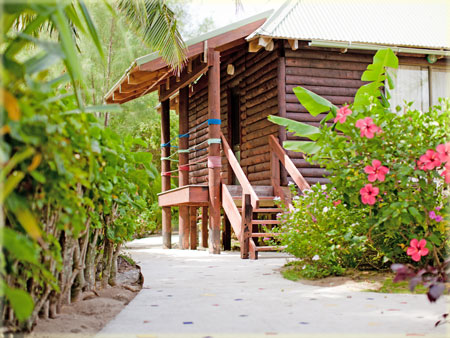 path to lagoon view villa
